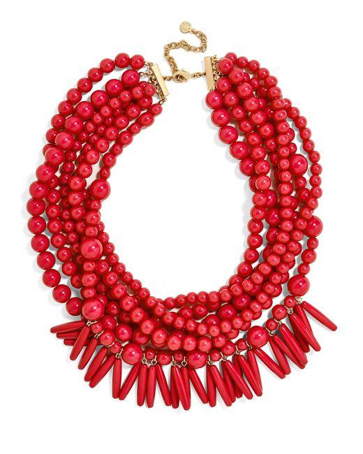 BaubleBar   Red Malibu Statement Necklace   Lyst