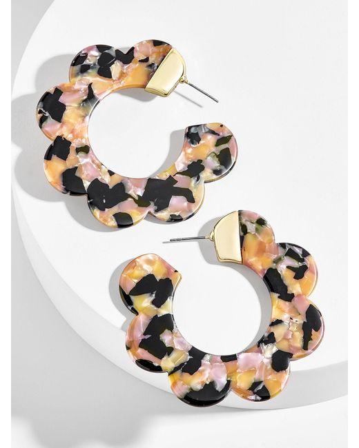 BaubleBar - Multicolor Dorine Resin Hoop Earrings - Lyst