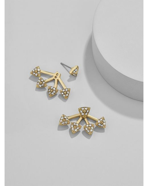 BaubleBar | Metallic Pavé Sputnik Ear Jackets | Lyst