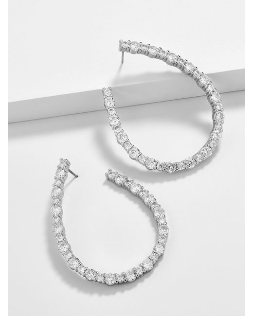 BaubleBar - Multicolor Aberiana Cubic Zirconia Hoop Earrings - Lyst