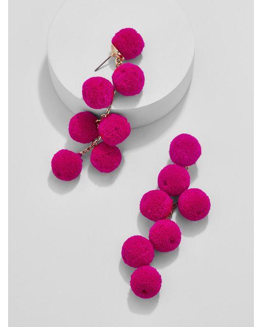 BaubleBar | Pink Canary Pom Pom Drop Earrings | Lyst