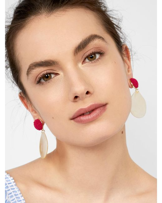BaubleBar - Pink Milos Drop Earrings - Lyst