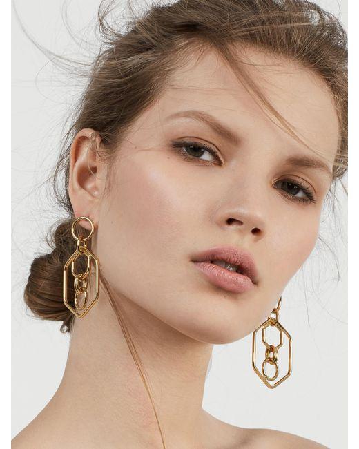 BaubleBar - Metallic Stephania Hoop Earrings - Lyst