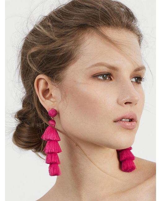BaubleBar - Pink Gabriela Fringe Earrings - Lyst