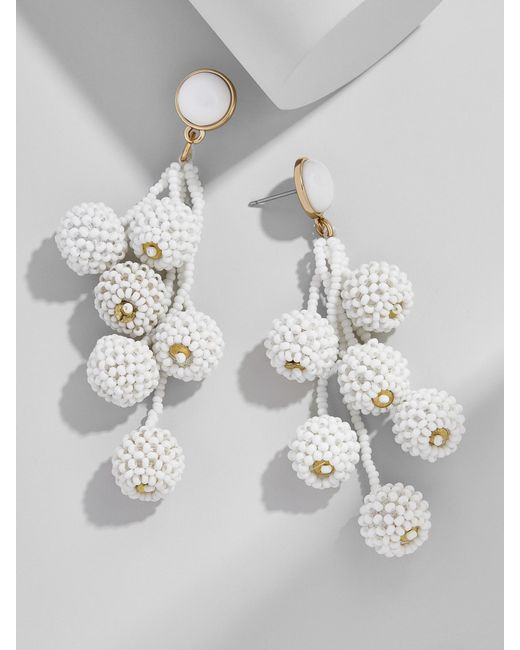 BaubleBar | White Cocoa Ball Drop Earrings | Lyst