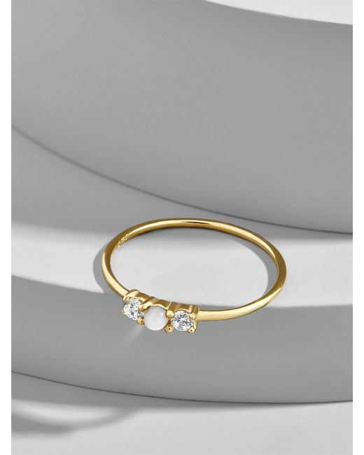 BaubleBar | Multicolor Opalescent Everyday Fine Stacking Ring | Lyst