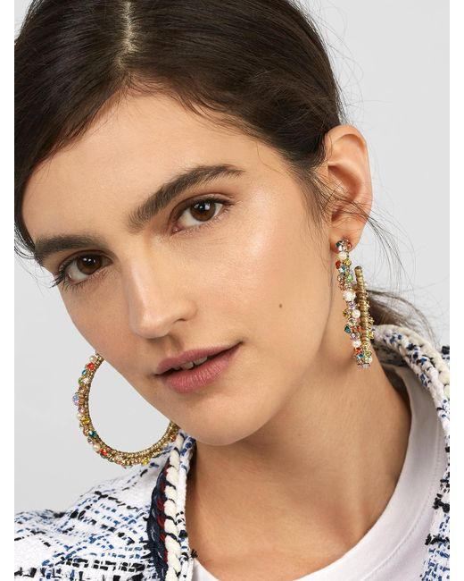 BaubleBar - Multicolor Avie Elysian Hoop Earrings - Lyst