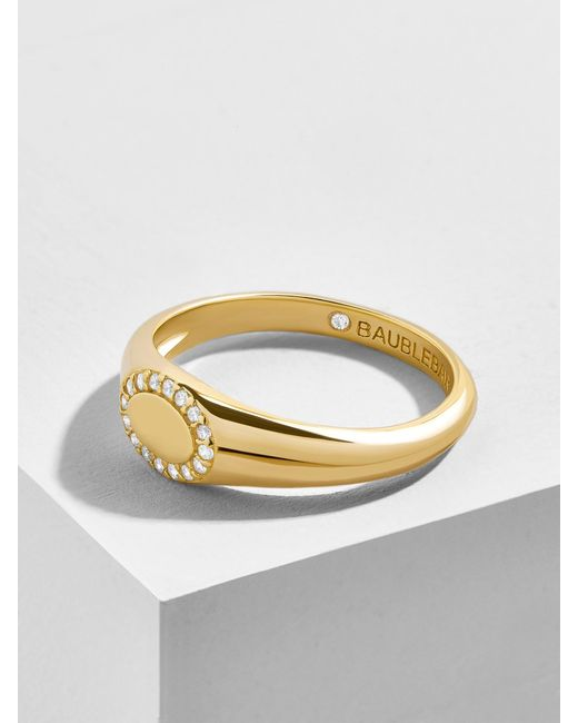 BaubleBar - Multicolor Infisso 18k Gold Plated Ring - Lyst