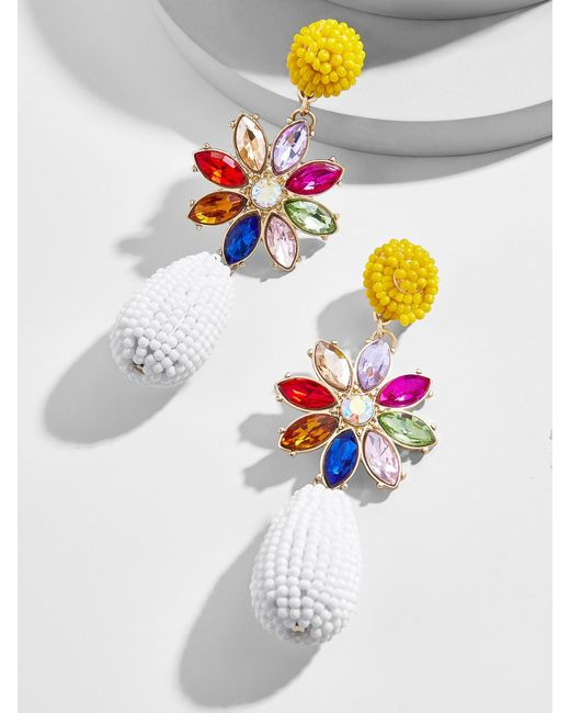 BaubleBar - Multicolor Peony Drop Earrings - Lyst