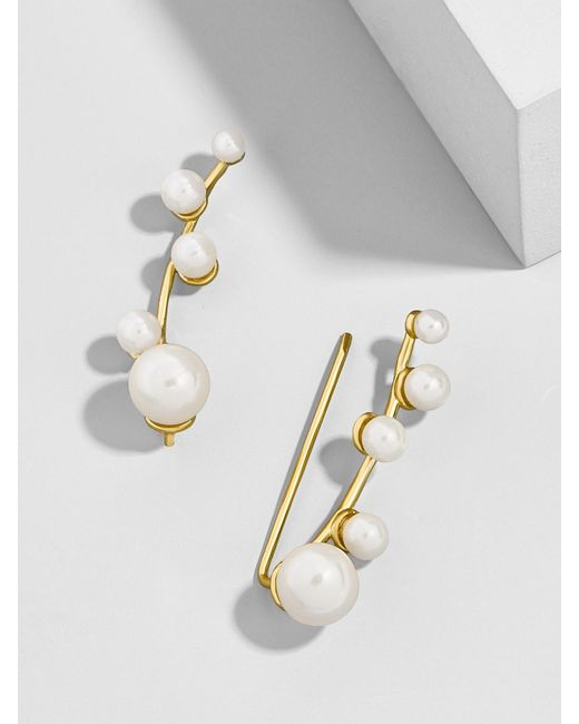 BaubleBar - Metallic Mistletoe Ear Crawlers - Lyst