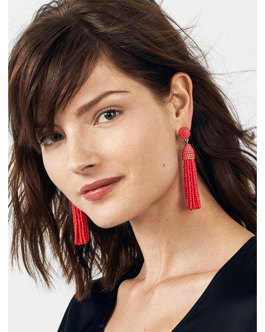 BaubleBar - Red Piñata Tassel Earrings - Lyst