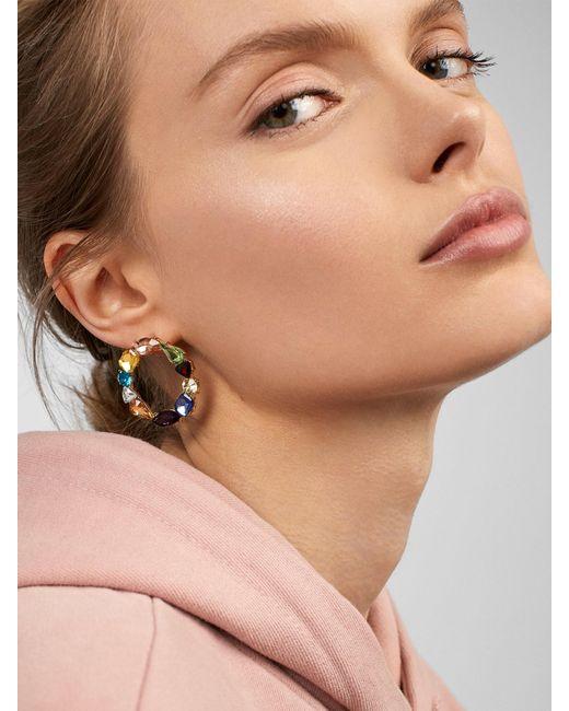 BaubleBar - Multicolor Chevon Hoop Earrings - Lyst
