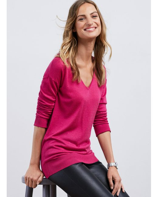 Baukjen | Pink Marion V-neck Jumper | Lyst