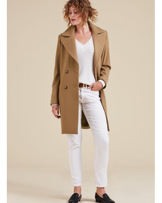 Baukjen | Natural Farrah Double Breasted Coat | Lyst