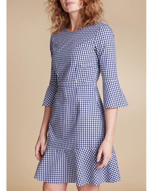 Baukjen - Blue Lyra Frill Dress - Lyst