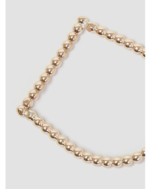 Alice Eden | Metallic U Dot Ring Gold | Lyst