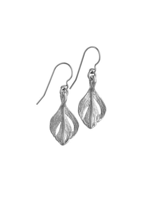 Chupi | Metallic Tiny Swan Feather Earrings Silver | Lyst