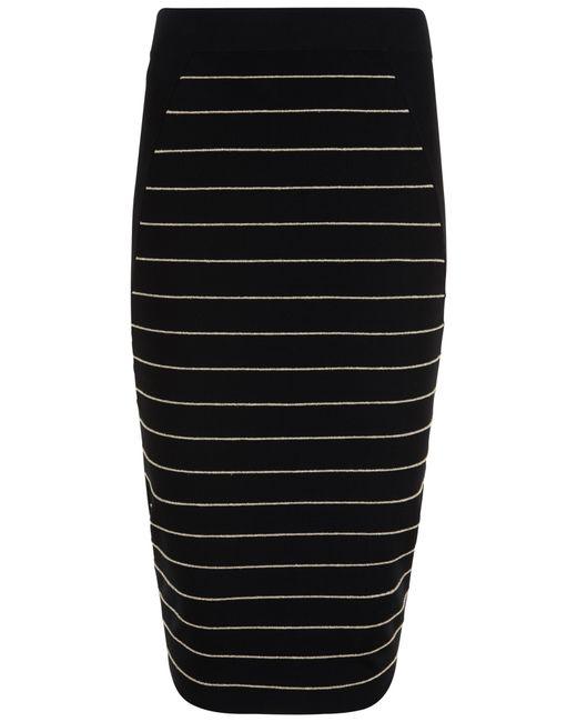 Ted Baker | Black Shelpa Stripe Knitted Midi Skirt | Lyst