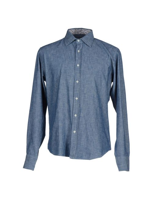 Smythson | Blue Denim Shirt for Men | Lyst