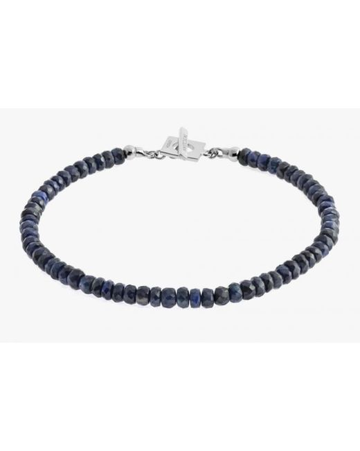 Tateossian | Blue Sapphire Precious Stone Bracelet With 18k White Gold Clasp for Men | Lyst