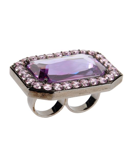 Noir Jewelry | Purple Ring | Lyst