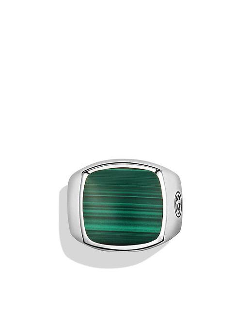 David Yurman | Metallic Exotic Stone Signet Ring With Malachite for Men | Lyst