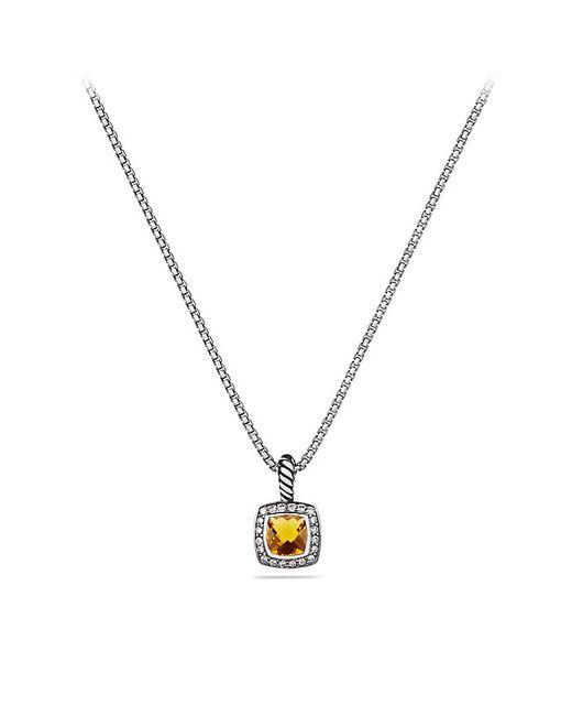 David Yurman | Metallic Petite Albion Pendant Necklace With Citrine And Diamonds | Lyst