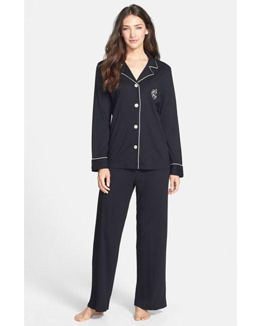Lauren by Ralph Lauren | Black Knit Pajamas | Lyst