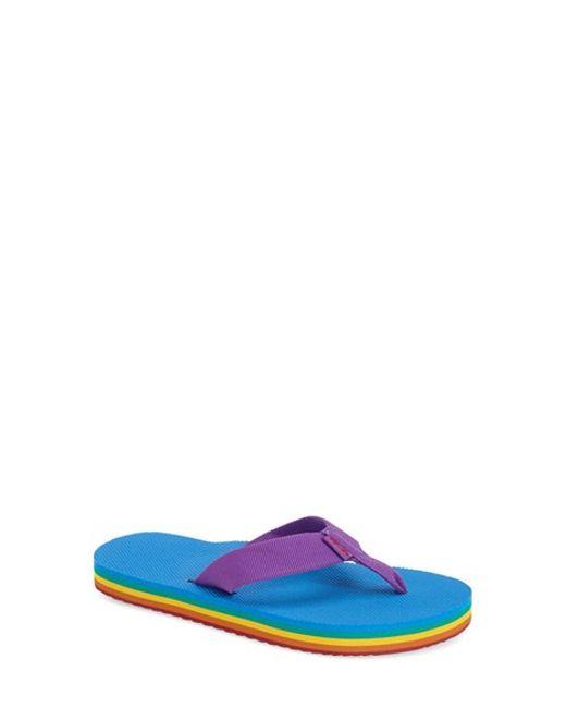 Teva | Purple Deckers Woven Flip-Flops | Lyst
