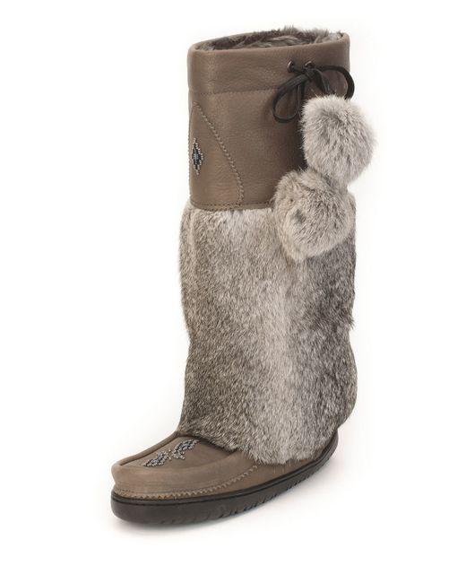 Manitobah Mukluks Rabbit Fur Tall Grain Mukluk Boot In