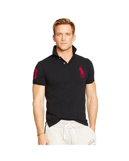 Polo Ralph Lauren | Black Custom-fit Big Pony Polo for Men | Lyst