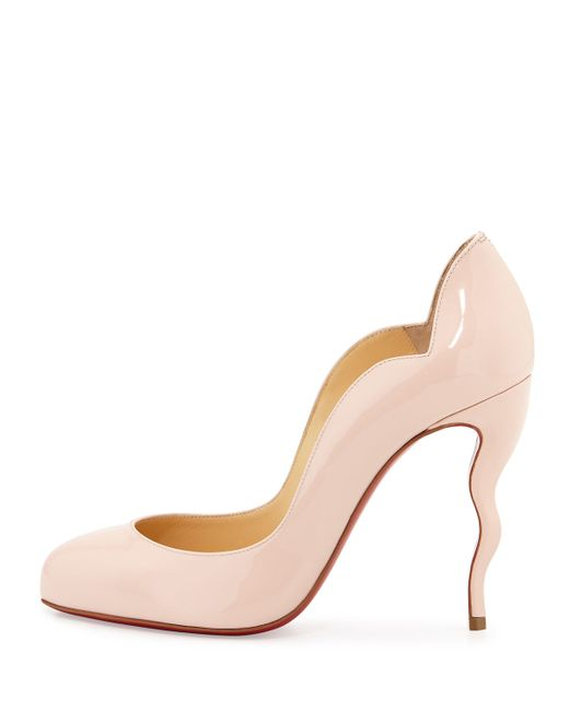 christian louboutin usa - Christian louboutin Wawy Dolly Patent Leather Pumps in Beige (Red ...