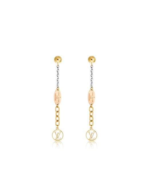 Louis Vuitton | Metallic Logomania Earrings | Lyst
