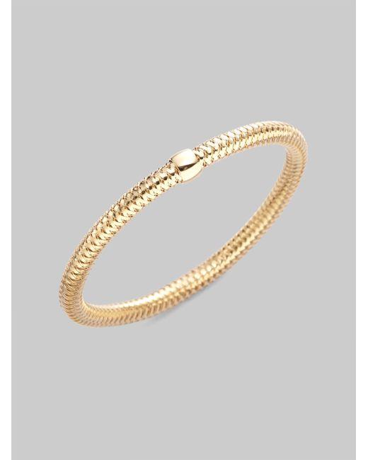Roberto Coin | Metallic Primavera 18k Yellow Gold Woven Bracelet | Lyst