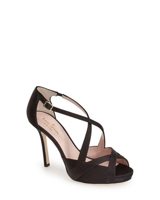 Kate Spade | Black 'fensano' Platform Sandal | Lyst