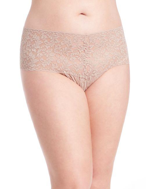 Hanky Panky | Natural Plus Size Retro Lace V-kini Thong | Lyst