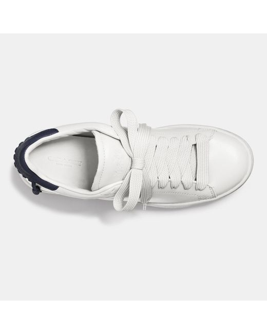 COACH | White C101 Leather Low-Top Sneakers | Lyst