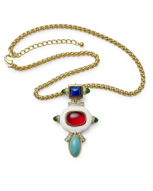 Kenneth Jay Lane | Multicolor Multi Color Pendant Necklace | Lyst