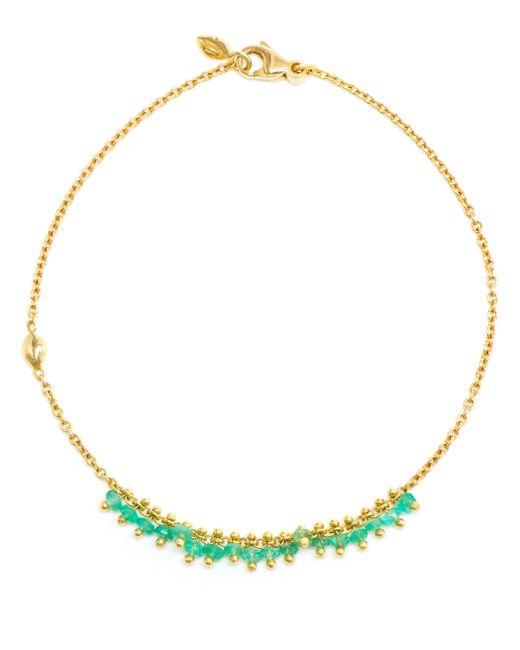 Natasha Collis   Green 18kt Yellow Gold 'new Precious' Bracelet   Lyst