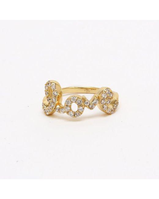 Adornia | Metallic Yellow Gold Love Ring | Lyst