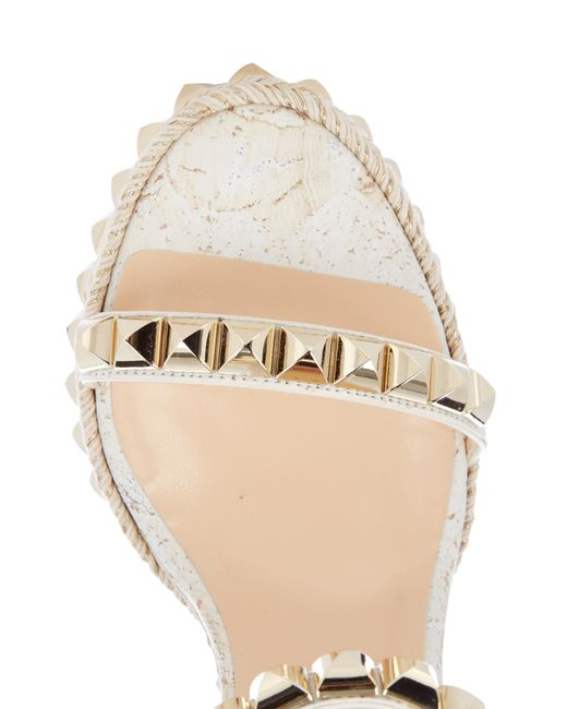 louboutin sneakers - christian louboutin white gold wedges