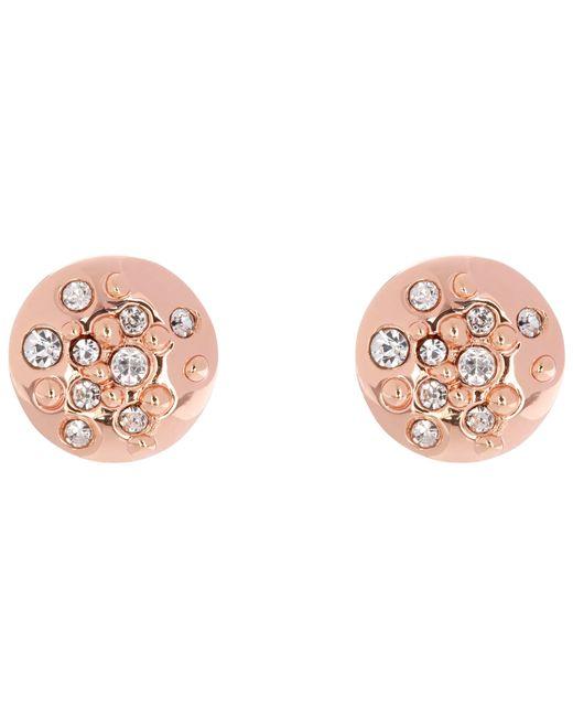 Karen Millen | Pink Sprinkle Crystal Stud Earrings | Lyst