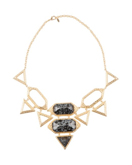 Isharya | Metallic Croc Statement Necklace | Lyst