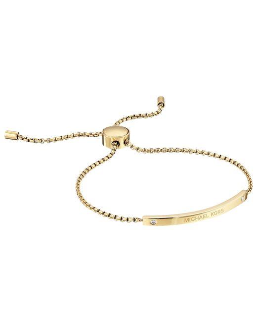 Michael Kors | Metallic Logo Bracelet - Slider Bracelet | Lyst