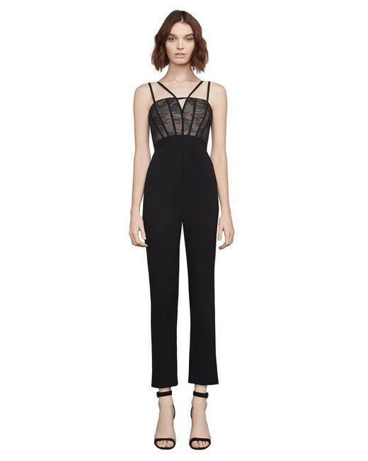 BCBGMAXAZRIA - Black Patrycia Lace-bodice Jumpsuit - Lyst