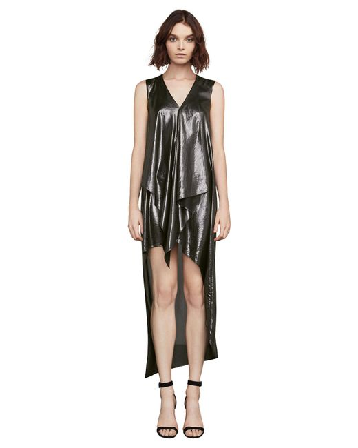 BCBGMAXAZRIA - Bcbg Tara Metallic High-low Dress - Lyst