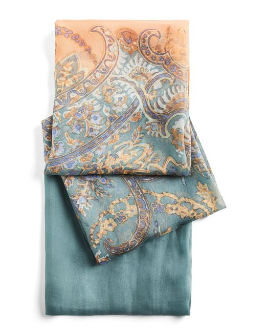 BCBGMAXAZRIA - Blue Bcbg Paisley Broder Wrap Scarf - Lyst