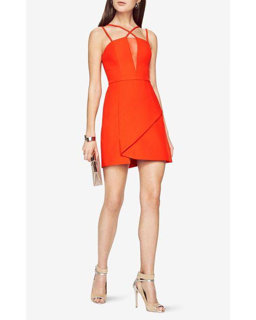 BCBGMAXAZRIA   Red Linzee Cutout Dress   Lyst