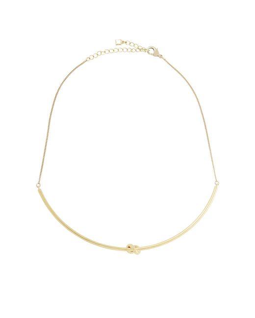 BCBGMAXAZRIA | Metallic Single-knot Necklace | Lyst