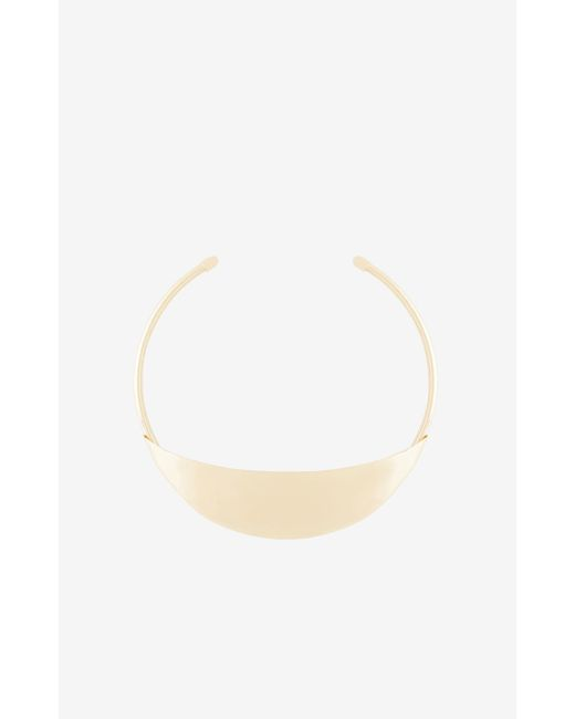 BCBGMAXAZRIA   Metallic Plate Collar Necklace   Lyst
